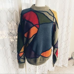 Vintage Structure Chunky Oversized Sweater Medium